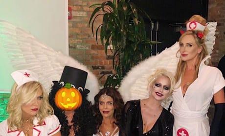 Tinsley Mortimer, Bethenny Frankel, Dorinda Medley, Sonja Morgan on Halloween 2018
