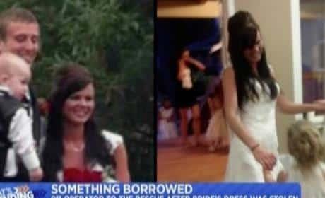 911 Responder Loans Robbed Bride Wedding Dress
