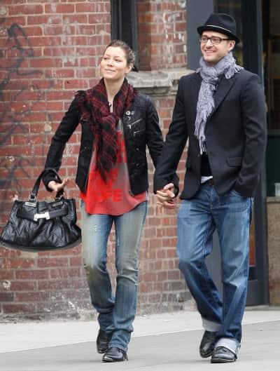 Timberlake and Biel Photo