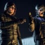 Oliver and Diggle on Arrow