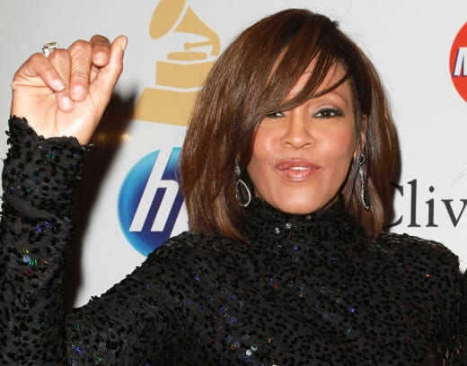 Whitney Houston Red Carpet Pic