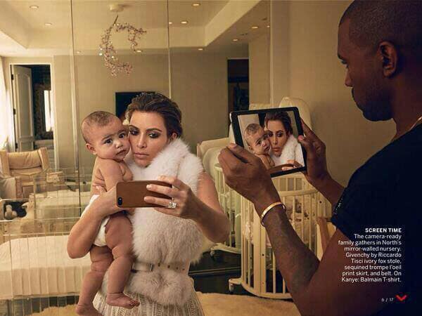 Kim, Kanye and Baby