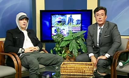Stephen Colbert Interviews Eminem on Public Access Show