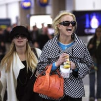 Britney Spears En Route to Japan