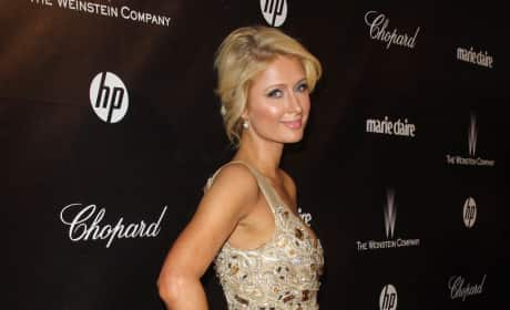 Paris Hilton at the Golden Globes