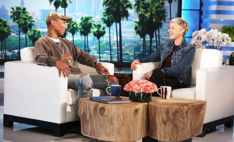 Ellen DeGeneres and Pharrell Williams