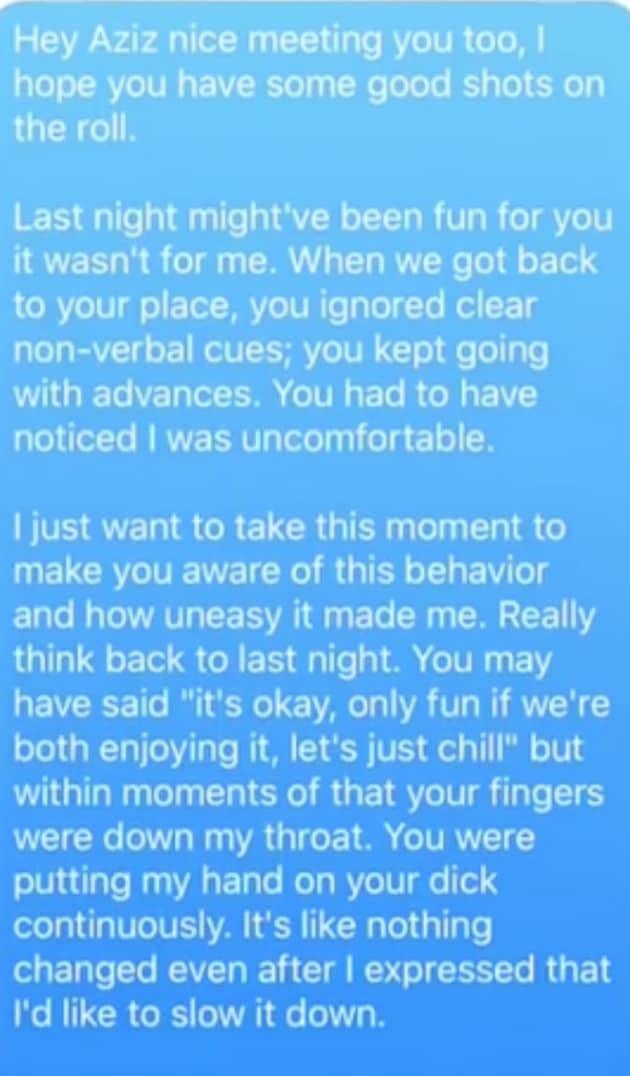 aziz ansari texting dating youtube