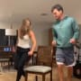 Hannah brown and tyler cameron play musical chairs on tiktok