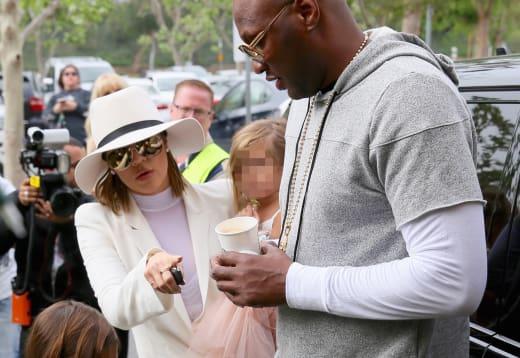 Khloe Kardashian and Lamar Odom on Easter
