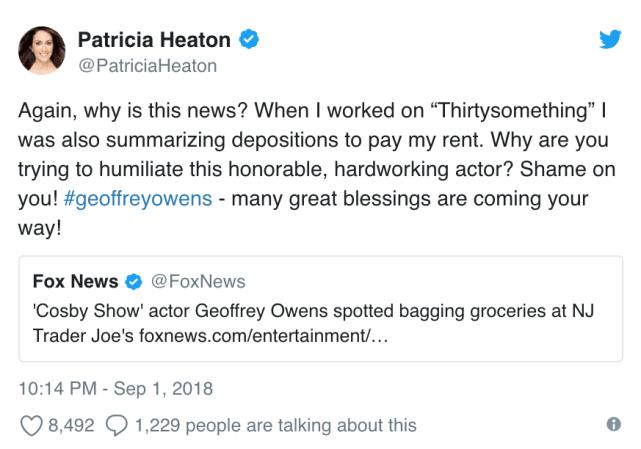 Patrica Heaton Responds