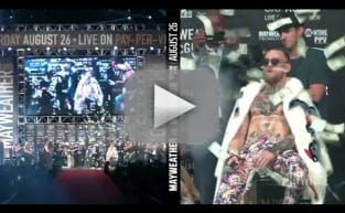 Floyd Mayweather Makes It Rain on Conor McGregor