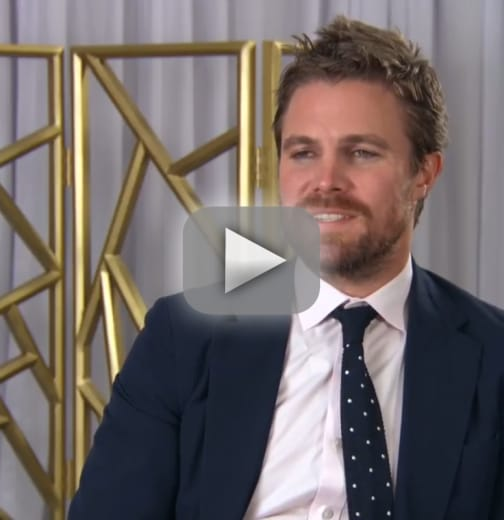 Stephen amell suffers abrupt panic attack during interview