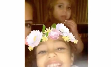 "North West and Penelope Disick as ""Coachella Girls"""