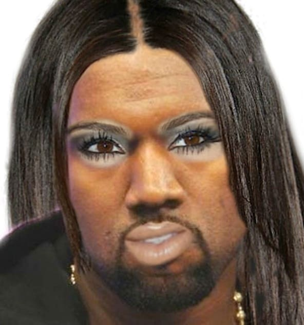 Kim and Kanye Baby Projection