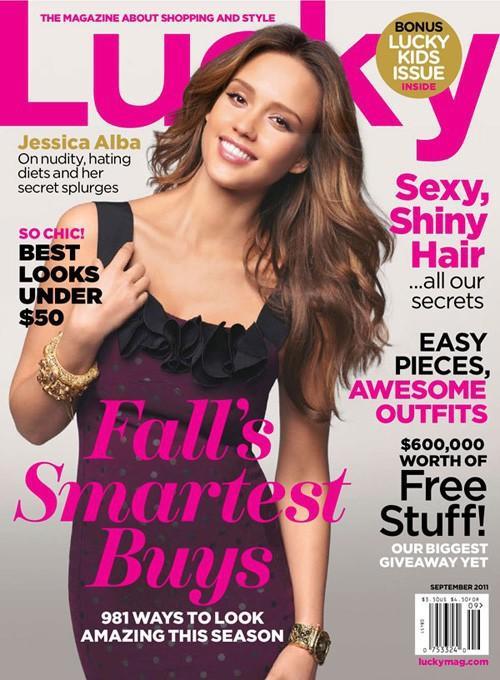 Jessica Alba Lucky Magazine Cover