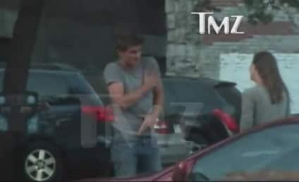 Garrett Hedlund Channels Miley Cyrus, Smokes Up on the Street