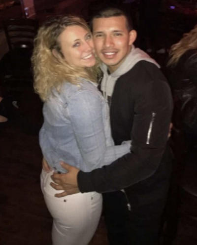 Javi Marroquin and Cassie Bucka Hugging Photo
