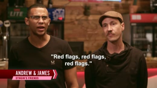 """Syngin Colchester friends - """"red flags, red flags, red flats"""""""