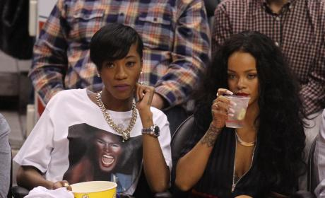 Rihanna Clippers Game Photo
