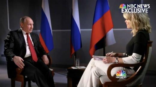 Vladimir Putin and Megyn Kelly