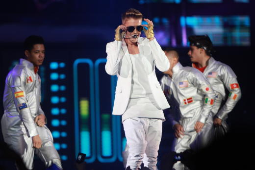 Justin Bieber Performs in Germany