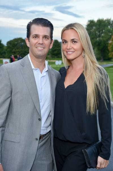 Vanessa Trump and Donald Trump Jr.