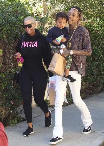 Amber Rose and Wiz Khalifa Take Their Son To The Park