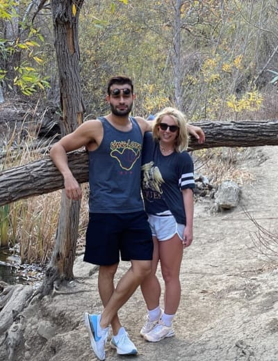 Britney and Sam on the Trail