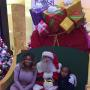 Blac Chyna with Santa Claus