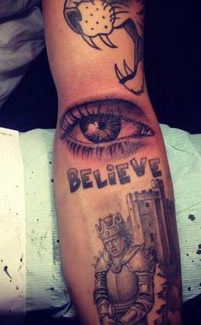 Justin Bieber Eye Tattoo