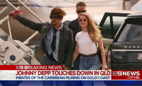 Johnny Depp and Amber Heard in Australia