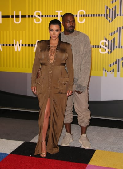 Kim Kardashian And Kanye West: 2015 MTV Video Music Awards