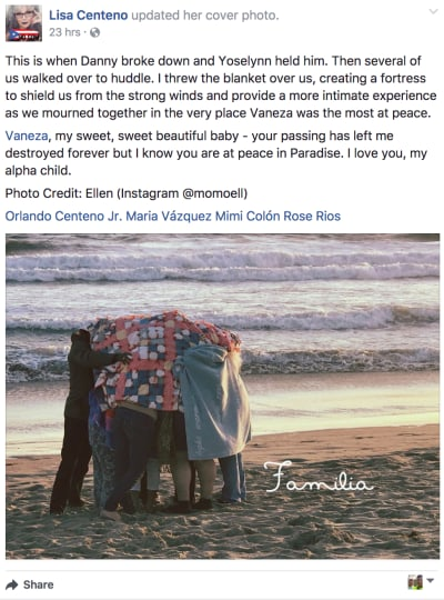 Rosario Dawson FB Post
