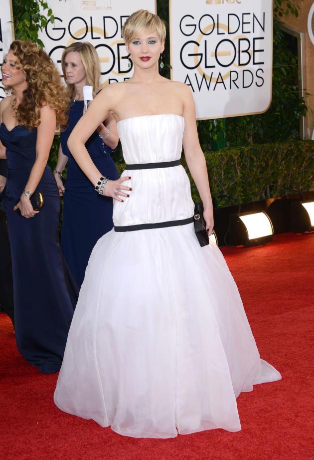 Jennifer Lawrence at 201 Golden Globes