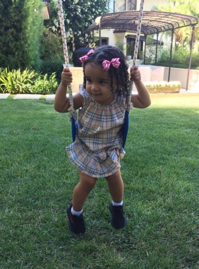 Dream Kardashian on the Swing