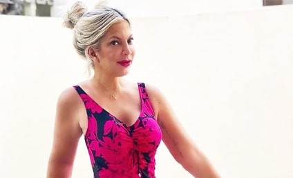 Tori Spelling Gets Busted Photoshopping Body Positivity Swimsuit Pic
