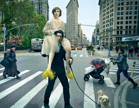 Lena Dunham in Vogue