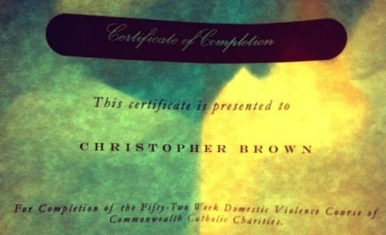 Chris Brown Completes Domestic Violence Course, Tweets Diploma and Inspiring Message