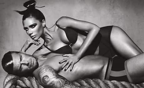 David and Victoria Beckham Underwear Ad
