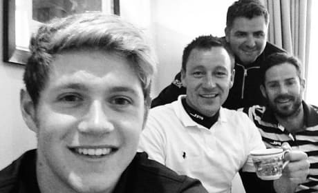 Niall Horan in Black and White