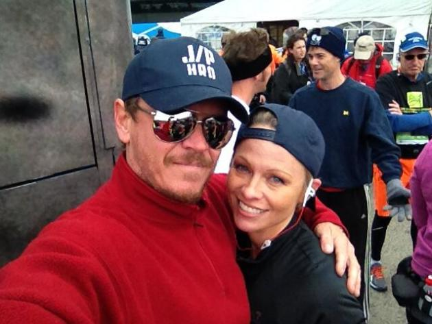 Pamela Anderson at the Finish Line