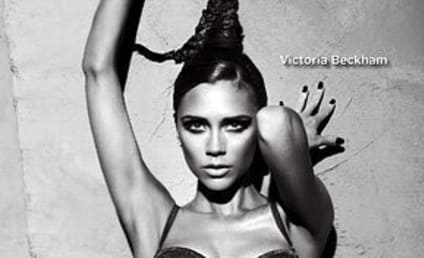Victoria Beckham Strips Down for Armani