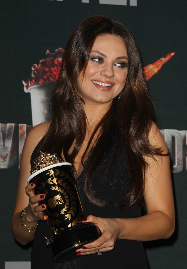 Mila Kunis: Baby Bump at MTV Movie Awards