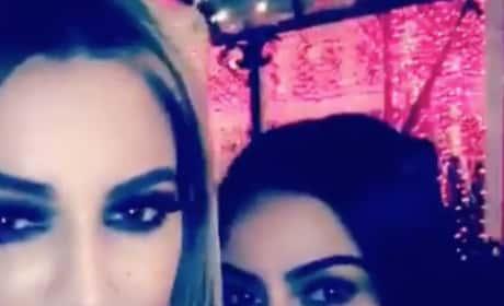 Kim Kardashian and Khloe on Xmas