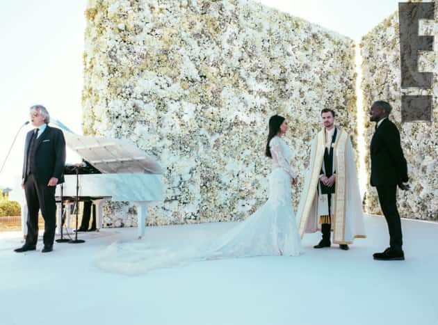 Andrea Bocelli at Kimye Wedding
