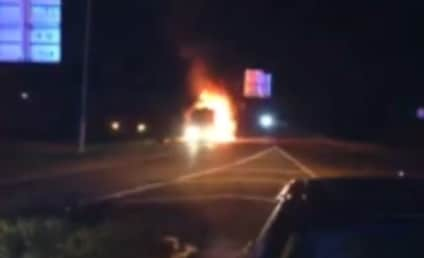 Miley Cyrus Tour Bus Catches on Fire!