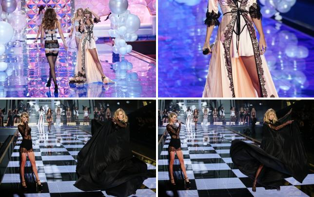 Taylor swift on the catwalk
