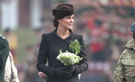 Kate Middleton Visits the Irish Guards