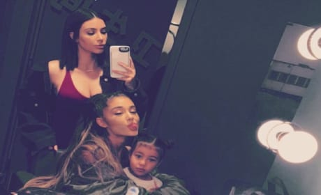 Kim Kardashian, Ariana Grande, North West