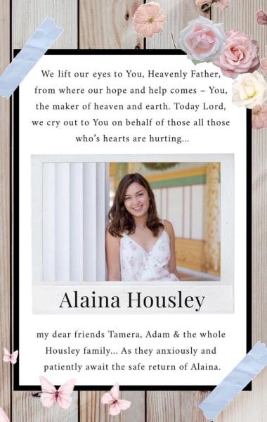 Alaina Housley IG story prayers 02